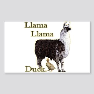 Llama Llama Duck Rectangle Sticker