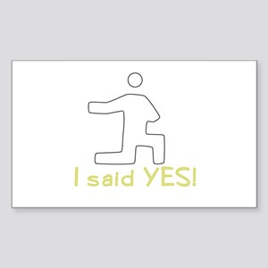 Wedding Proposal Rectangle Sticker