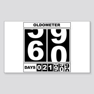60th Birthday Oldometer Rectangle Sticker
