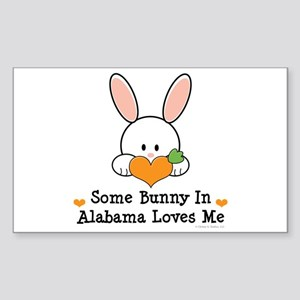 Some Bunny In Alabama Loves Me Sticker (Rectangle)