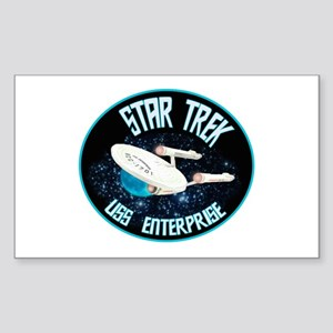 Star Trek USS Enterprise Sticker (Rectangle)