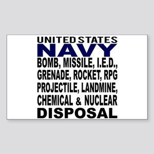 Navy Disposal Sticker (Rectangle)