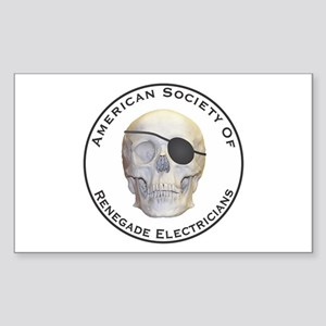 Renegade Electricians Sticker (Rectangle)