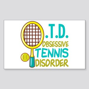 Funny Tennis Sticker (Rectangle)