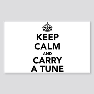 Keep Calm and Carry a Tune Sticker (Rectangle)