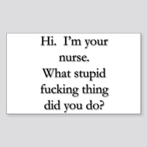I'm Your Nurse Rectangle Sticker
