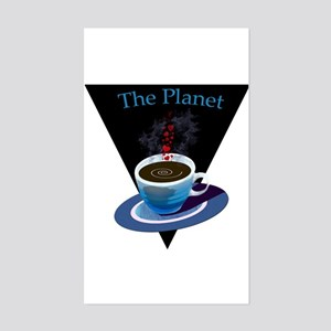 The Planet Coffee House Rectangle Sticker