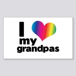 i love my grandpas Sticker (Rectangle)