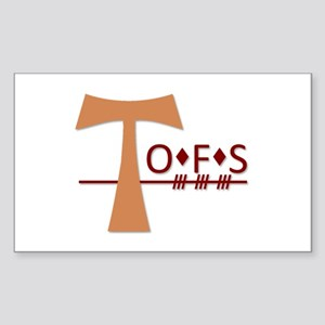 OFS Secular Franciscan Order Sticker (Rectangle)