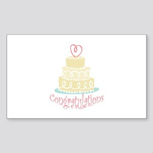 Congratulations Cake Sticker