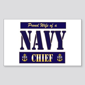 Proud Wife of a Chief 2 Rectangle Sticker