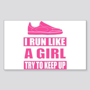 I Run Like a Girl Sticker
