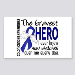 Bravest Hero I Knew Colon Cancer Sticker (Rectangl