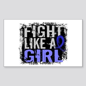 Fight Like a Girl 31.8 Arthritis Sticker (Rectangl
