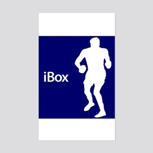 Boxing iBox Silhouette Sticker (Rectangle)