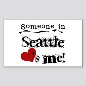 Seattle Loves Me Rectangle Sticker