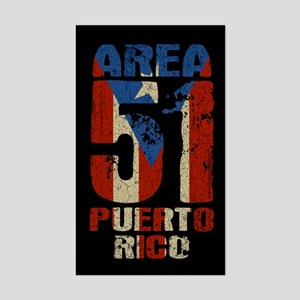 Area 51 Puerto Rico Sticker (Rectangle)