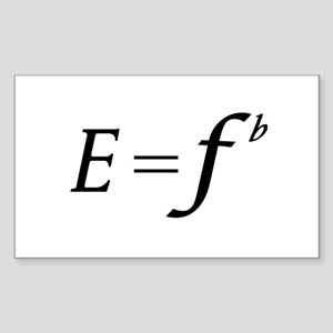 E equals F flat Sticker
