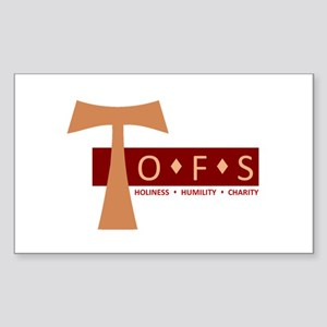 OFS Secular Franciscan Sticker (Rectangle)