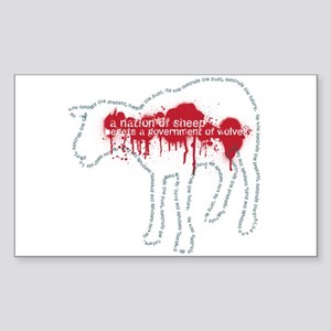 A Nation of Sheep Rectangle Sticker