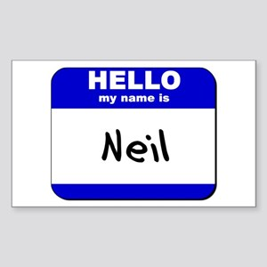 hello my name is neil Rectangle Sticker