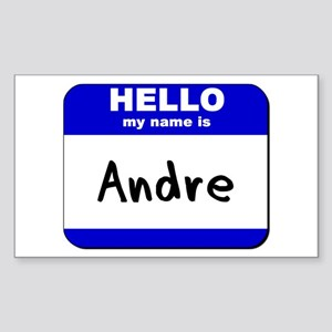 hello my name is andre Rectangle Sticker
