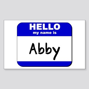 hello my name is abby Rectangle Sticker