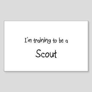 I'm training to be a Scout Rectangle Sticker