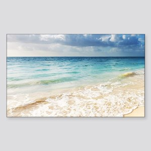 Beautiful Beach Sticker (Rectangle)