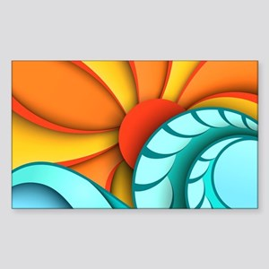 Sun and Sea Sticker (Rectangle)