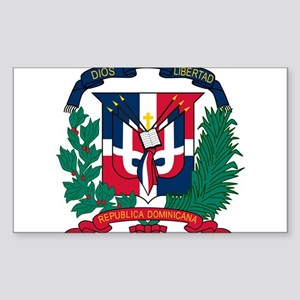 Dominican Republic Coat Of Arms Sticker (Rectangle