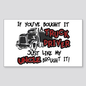 A Truck Driver Like My Uncle Sticker (Rectangle)