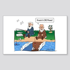 Fishing With Moses Rectangle Sticker