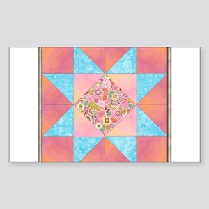 Sunset and Water Quilt Squa Sticker