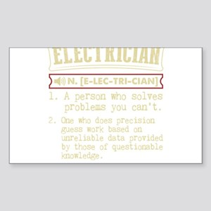 Electrician Funny Dictionary Term Sticker
