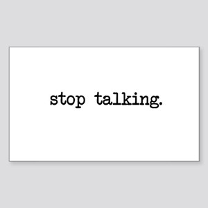 Stop Talking Cards Sticker