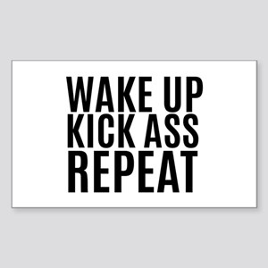 Wake Up Kick Ass Repeat Sticker