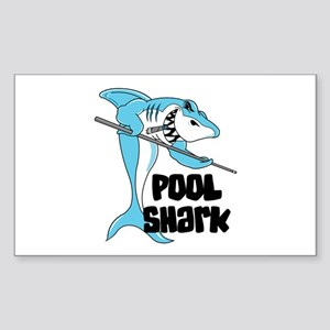 Pool Shark Rectangle Sticker