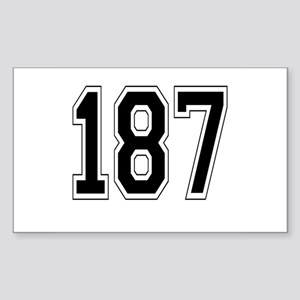 187 Rectangle Sticker