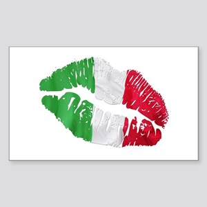 Italian kiss Rectangle Sticker