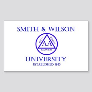 Smith Wilson University Sticker (Rectangle)