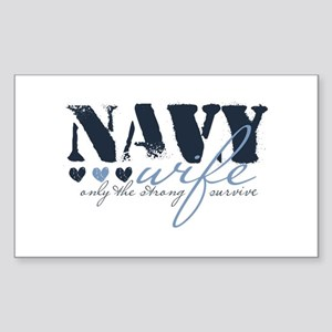 Navy Wife ... [blue] Rectangle Sticker