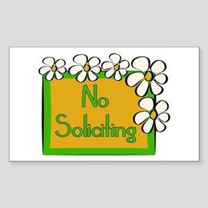 No Soliciting Daisy Sticker (Rectangle)