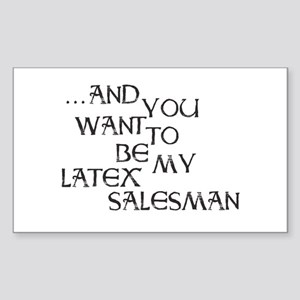 Seinfeld Latex Salesman Sticker