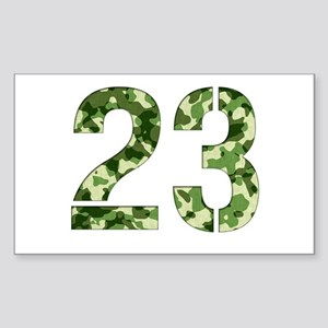 Number 23, Camo Sticker (Rectangle)