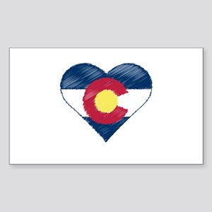I Love Colorado Sticker (Rectangle)