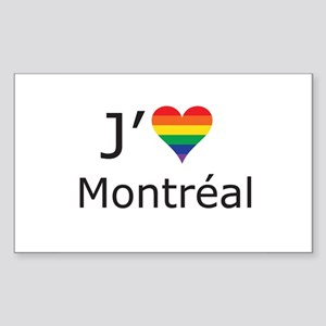 J'aime a Montreal Sticker (Rectangle)