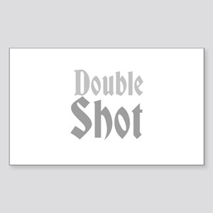 Double Shot Sticker (Rectangle)