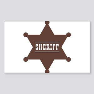 Sheriff's Star Sticker (Rectangle)