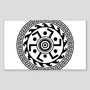 Greek Art - Decorative Circle Sticker